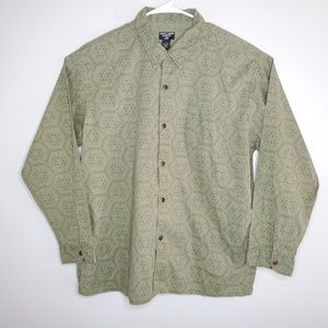 Ralph Lauren Jean's Co. Green Hawaiian Shirt Large